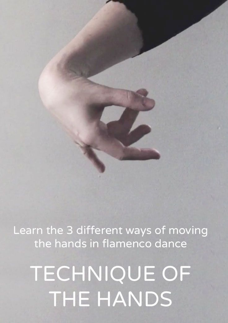 The circling hand movement flamenco dancers use is something quite distinct and beautiful. Did you know there are three different ways the hands can be moved. Click though to try them all out now!