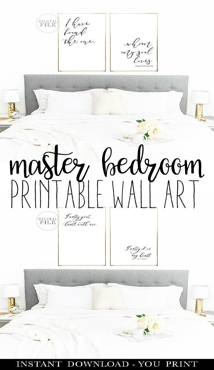 Master Bedroom Decor Printable Wall Art Instant Download Ad