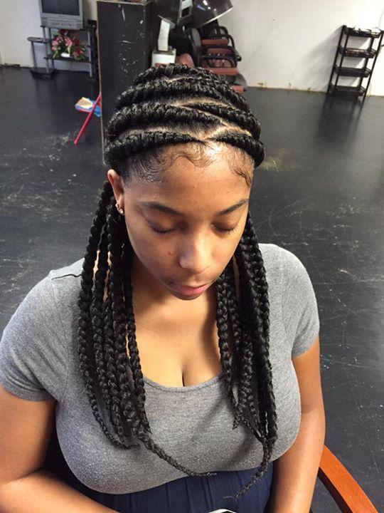 Cute Feed In Braids Hair Style For Women Black Hair Natural Hair