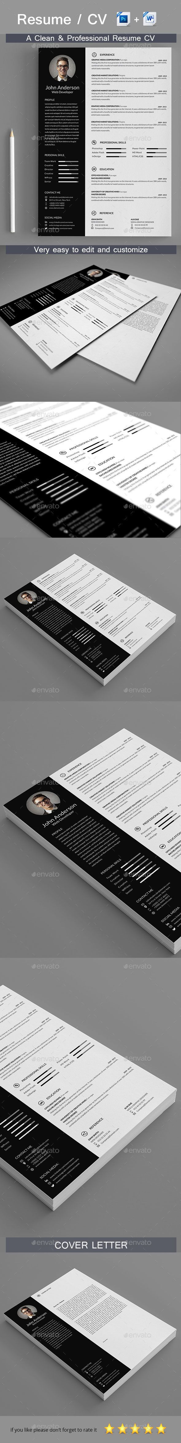Resume Template 26 best Professionnelle images on