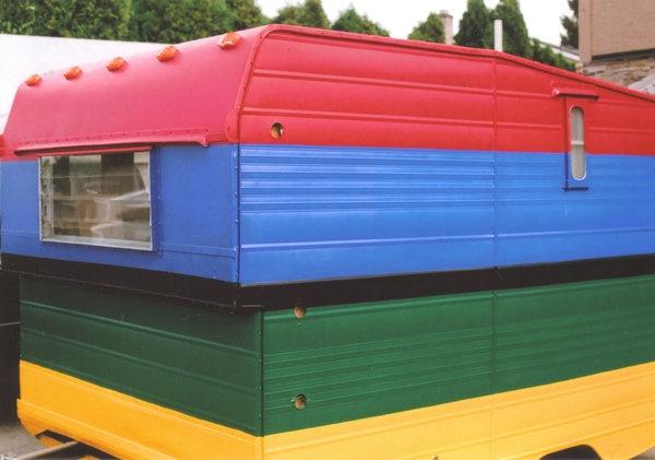 A lego style van