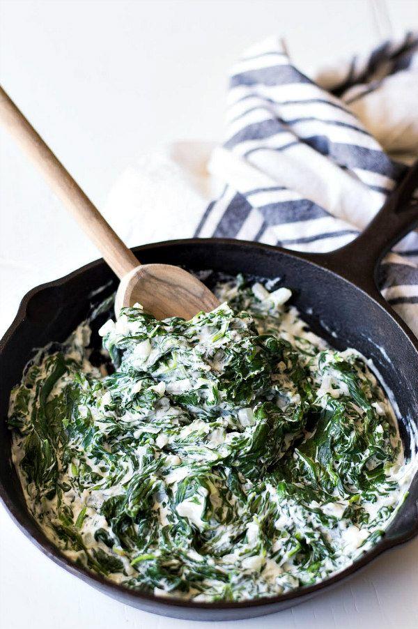 Easy Creamed Spinach Recipe - RecipeGirl.com