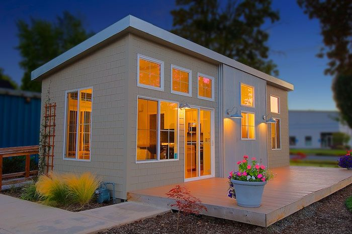 """Oregon-based Ideabox has worked to change the """"modular"""" notion for 2+ decades. They want to transform the modular home into something conducive to a """"very cool modern lifestyle"""" with a primary focus on how a house """"lives"""" rather than how many square feet it contains.   Tiny Homes"""