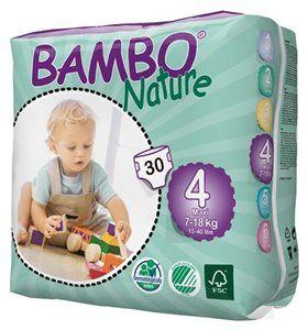 Pieluszki jednorazowe Bambo Nature Maxi 7-18 kg 30 szt ABENA Toddlersi