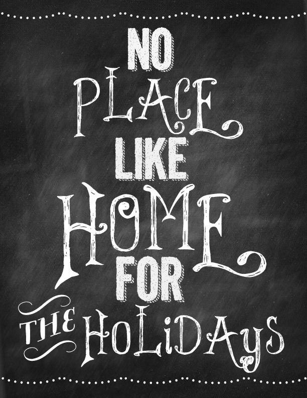 "#chalkboard idea: ""no place like #home for the holidays"" (or glædelig jul)"