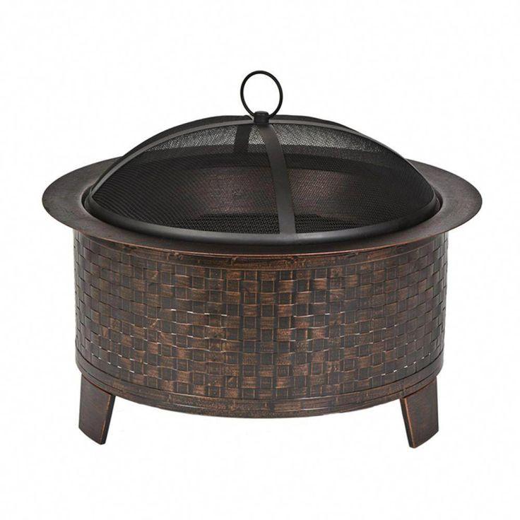 Cobraco woven base cast iron fire pitfbciwovenbz the