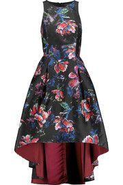 Noir Sachin & BabiPresley cutout printed sateen dress