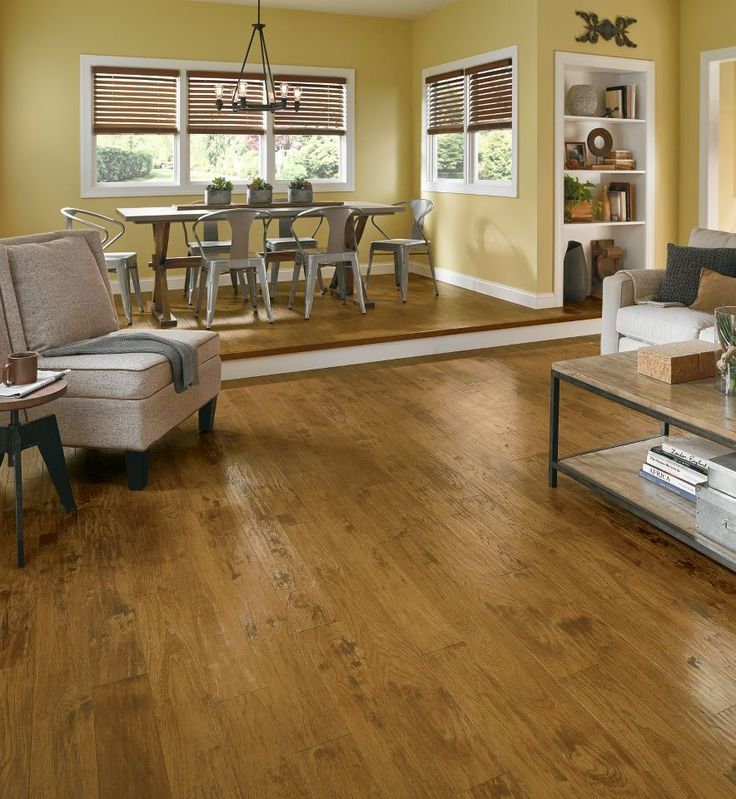 Get This Woodland Hickory Scraped Golden Laminate Flooring For Your Home