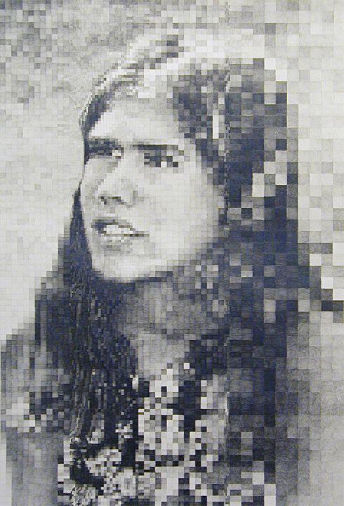 "D-L Alvarez: Ruth Ann Moorehouse (pencil-shaded ""digital"" art)"