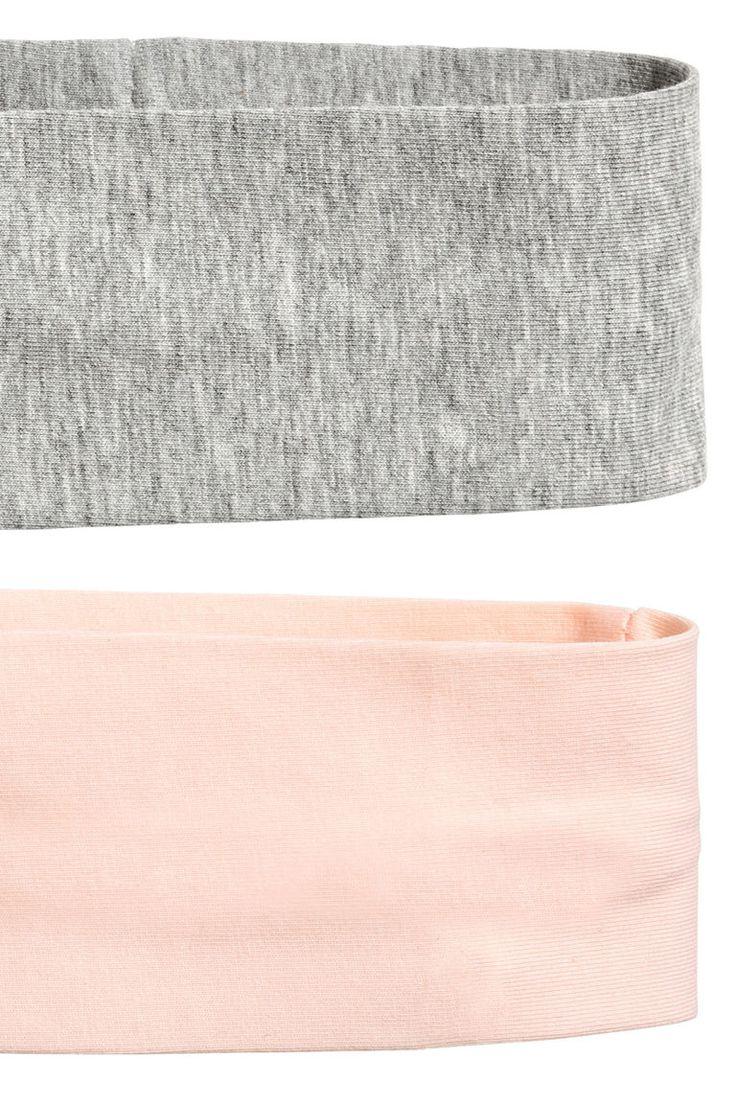 2-pack hårband - Grå/Puder - DAM | H&M SE 2