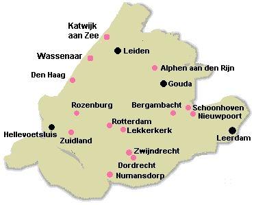 Alle quiltwinkels van Zuid-Holland