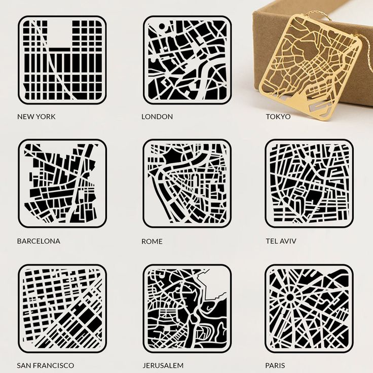 'You are Here' map jewelry models city street grids | Designboom Shop