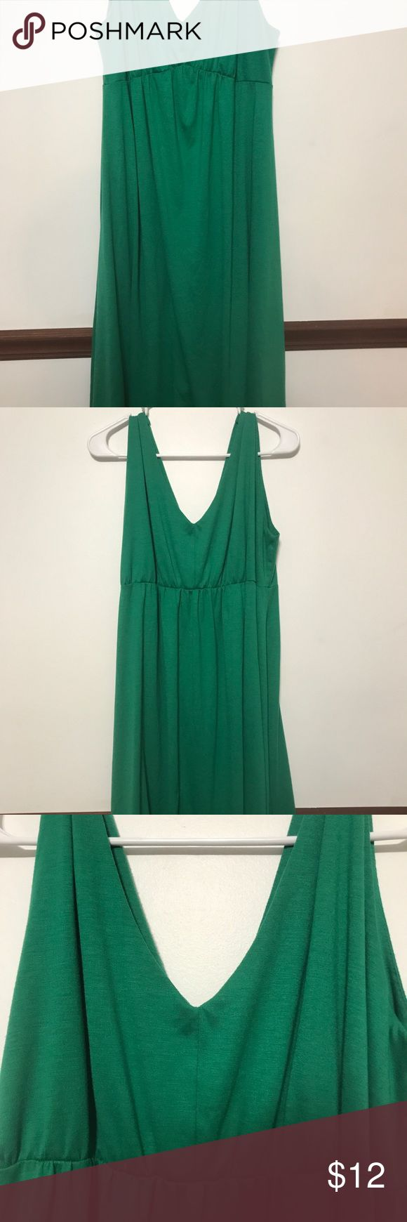 Long Elegant Legs Green Sleeveless Casual Dress L Long Elegant Legs Green Sleeveless Casual Dress Large Long Elegant Legs Dresses