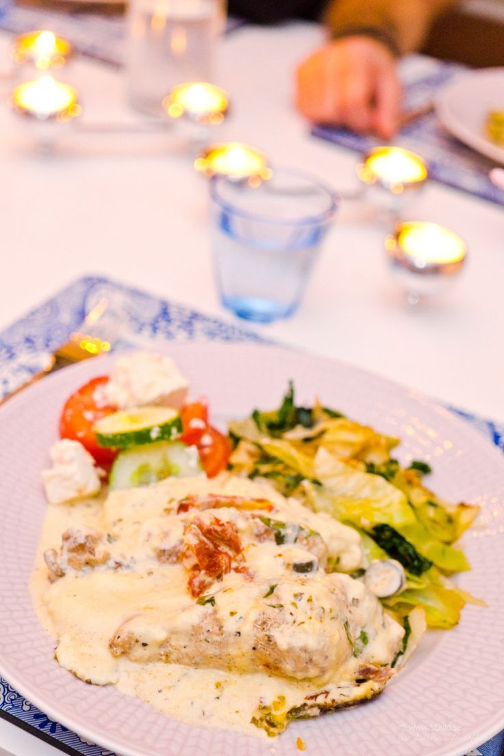 Kycklinggratäng med tomat, basilika och dijon