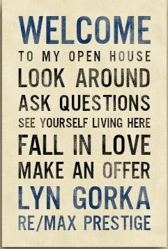 A realtor welcome canvas to have at every open house!!  Make your own!  www.pinkheidi.jewelkade.com