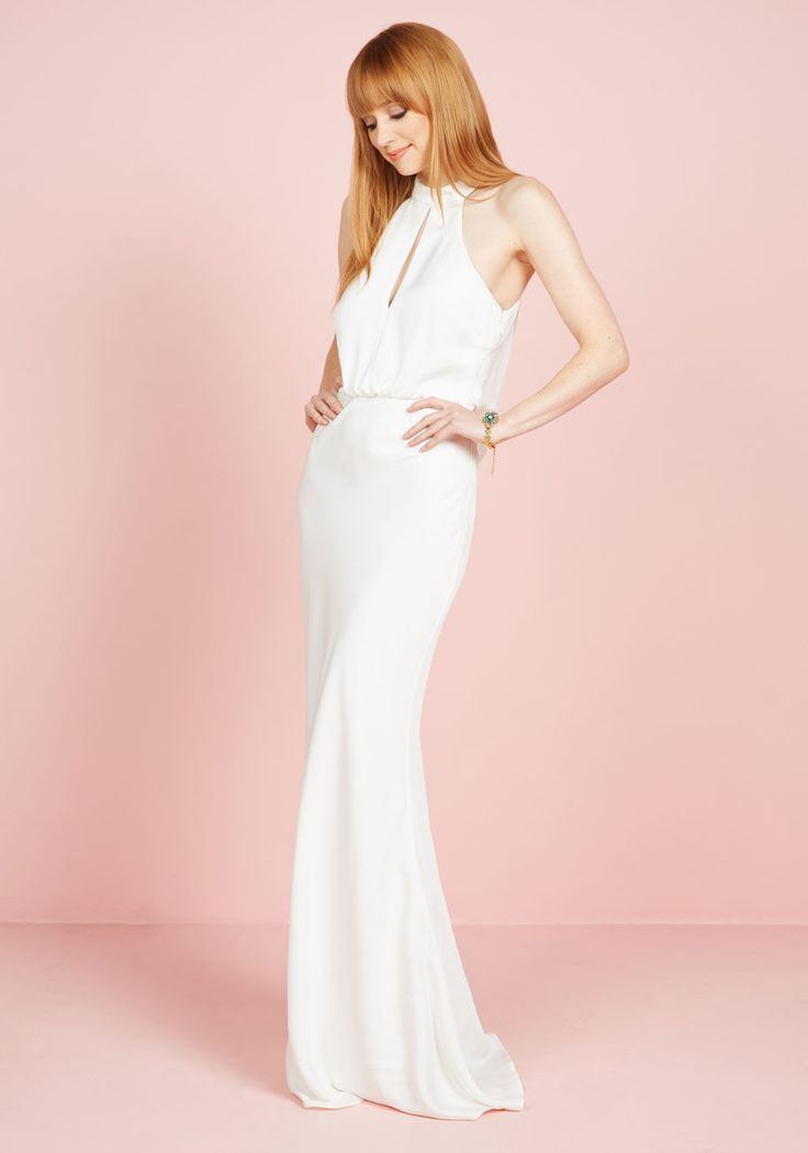 Magnificent Mrs. Maxi Dress in White