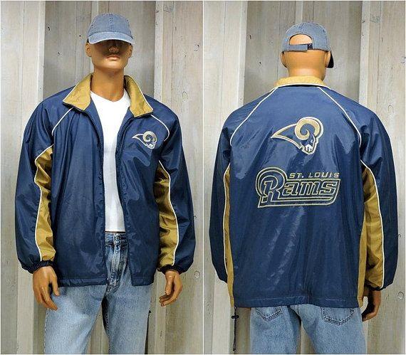 new concept 3d77d b5b57 90s St Louis Rams Starter Jacket mens L / LA Rams / Vintage ...