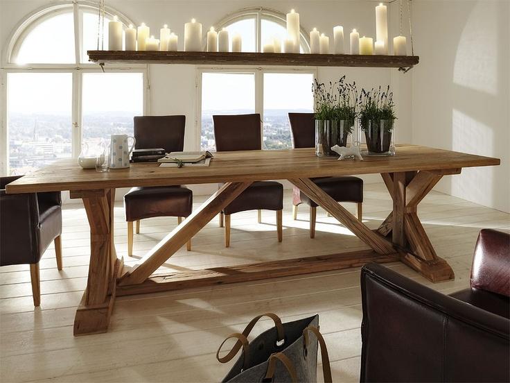 Massivholzmobel Ideen Esstisch Baumstamm - Design