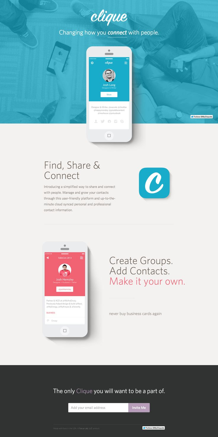 neat app design, simple