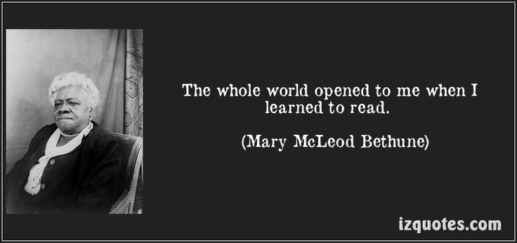 the whole world opened to me when i learned to read   mary