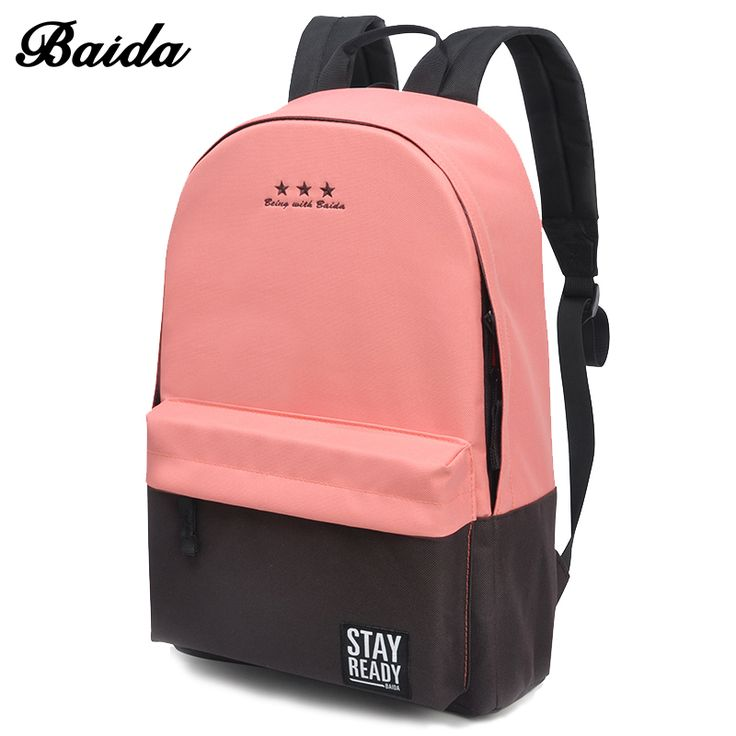 Fashion Backpack Women Children Schoolbag Back Pack Leisure Korean Ladies Knapsack Laptop Travel Bags for School Teenage Girls  Price: 12.61 USD