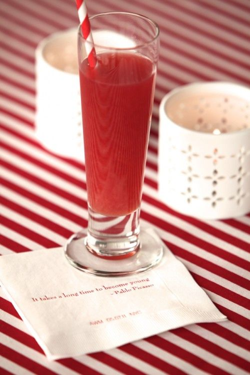 Straw + red cocktail