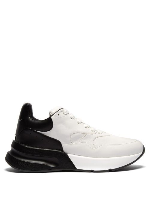 8280bb0c0bef ALEXANDER MCQUEEN ALEXANDER MCQUEEN - RUNNER RAISED SOLE LOW TOP LEATHER  TRAINERS - MENS - WHITE