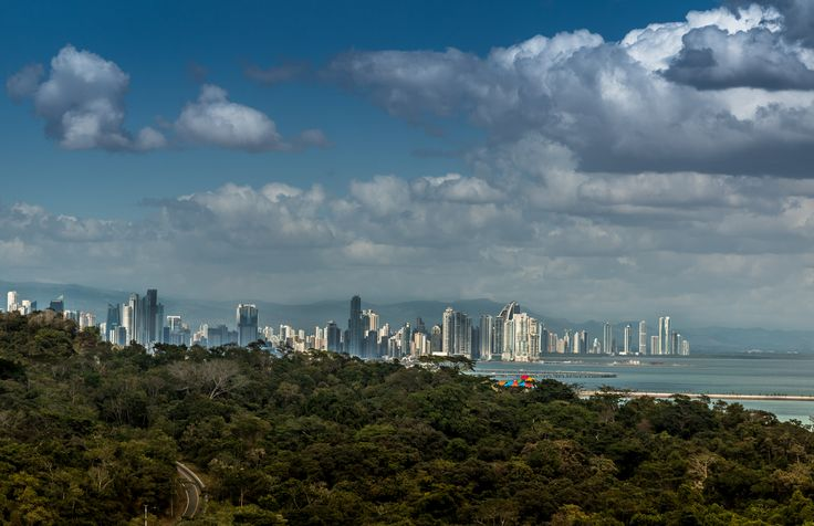 Great view of Panama City from the balcony of our beautiful beach condo! Stunning contrast & an great getaway!
