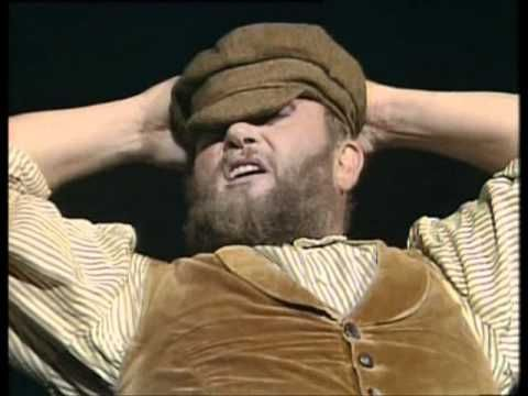 This is an overwhelmingly joyful, not-to-be-missed performance by the famous Russian basso Ivan Rebroff, who starred as Tevye in, of all places, Paris, and played the role for a remarkable 3-1/2  years.  This looks like a man who really loves what he's doing -- RJE.