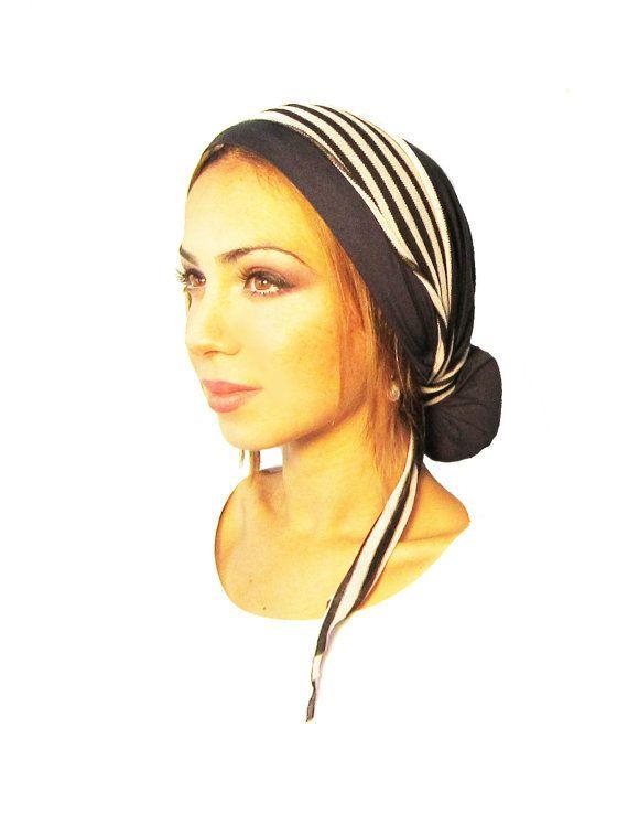 Hair Snood Tichel Head Scarf Chemo Hat Chemo Cap by ShariRoseShop