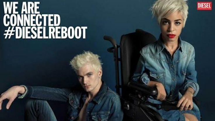 """Just for fun, this wheelchair-mobile fashion blogger submitted her pics to Diesel for modeling, thinking she'd never get the job. Diesel responded, You don't have to be a conventional model type to represent a brand,"""" and cast their new spokesmodel. // Fierce Woman in a Wheelchair Stars in New Diesel Ad"""