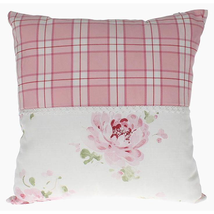 Lovely fabric #cushion #floral #pink. www.inart.com