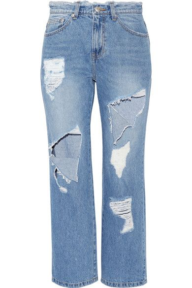 Steve J & Yoni P draws inspiration from '90s hip-hop culture for its collections. These high-rise jeans are heavily distressed - a signature of the brand - and cut in a relaxed straight-leg silhouette. Take your styling tip from The EDIT and wear them over fishnet tights.
