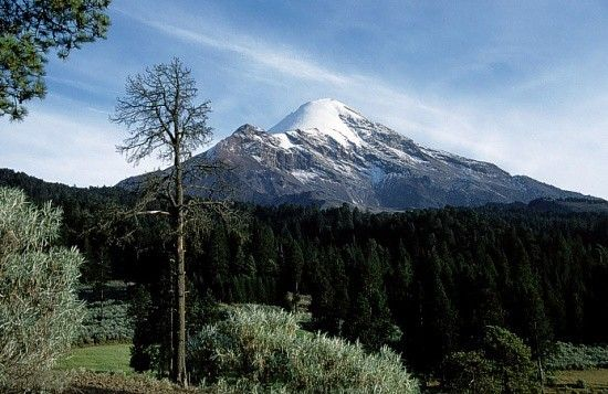 Citlaltépetl o Pico de Orizaba. El unto mas alto de Mexico: 5610 msnm..