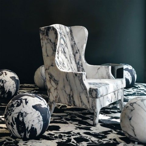Amazing marble chair from Aram... may not be that comfortable