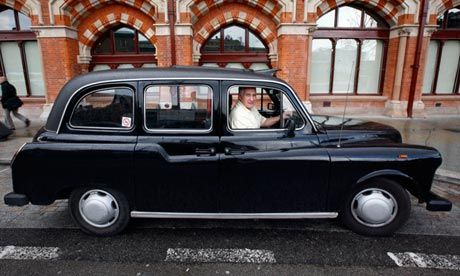 The classic black FX4 Fairway taxi cab. Photograph: Martin Argles for the Guardian