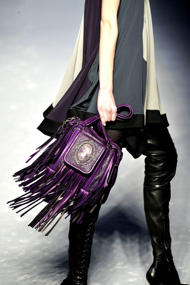 @modwestern. adores this Etro fringe handbag in grape.      #modwestern, #fringe, #western, #style