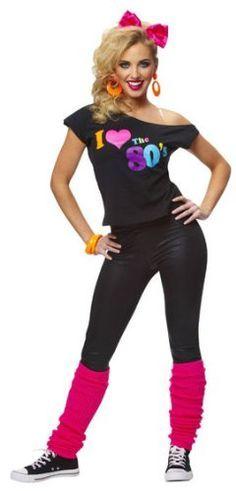 the 80u0027s halloween costume for teen girls and women