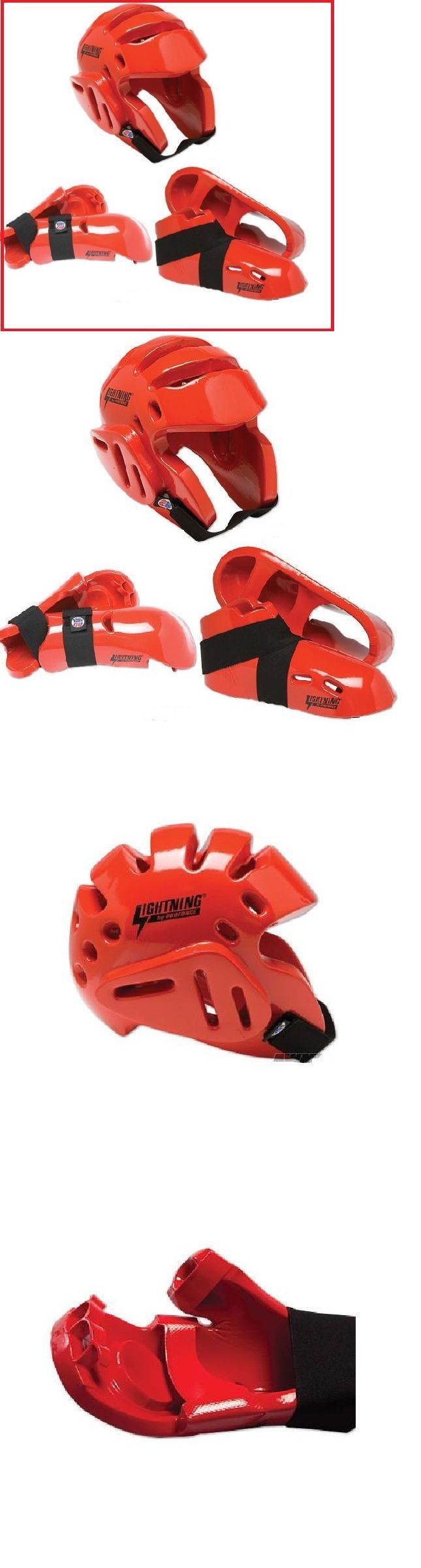 Other Combat Sport Protection 179783: Proforce Sparring Gear Set Guards Karate Tkd Pads Head Helmet Hand Foot Red Mma BUY IT NOW ONLY: $64.5