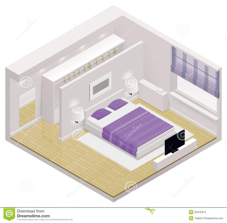 Vector Isometric Bedroom Icon Stock Images - Image: 33475314