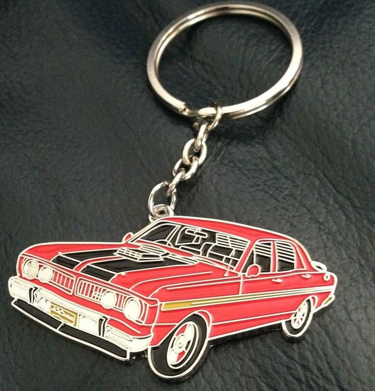 Ford Falcon XY GT 1971 Keyring in Track Red, Free Shipping