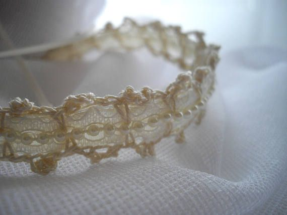 Crocheted Choker - Featured At Martha Stewart Wedding Party Cream Tea Stained