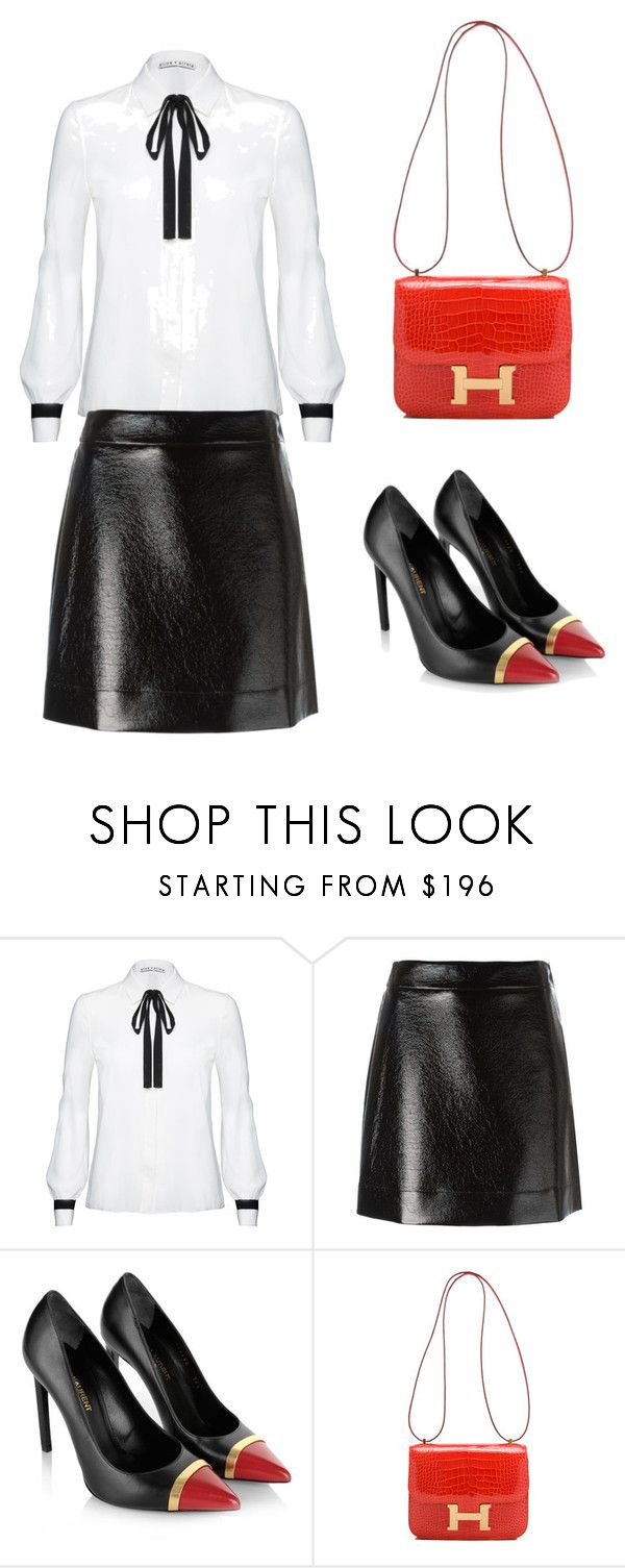 """Untitled #32"" by balog-viki on Polyvore featuring Alice + Olivia, MICHAEL Michael Kors, Yves Saint Laurent and Hermès"