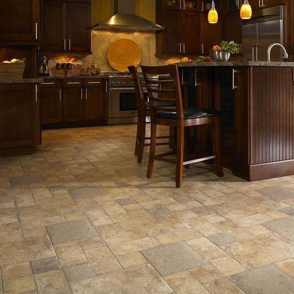 Love The Natural Colors In Floor Good Idea For Breezeway Bathroom Area Kitchen Laminate Flooringkitchen Tilestile