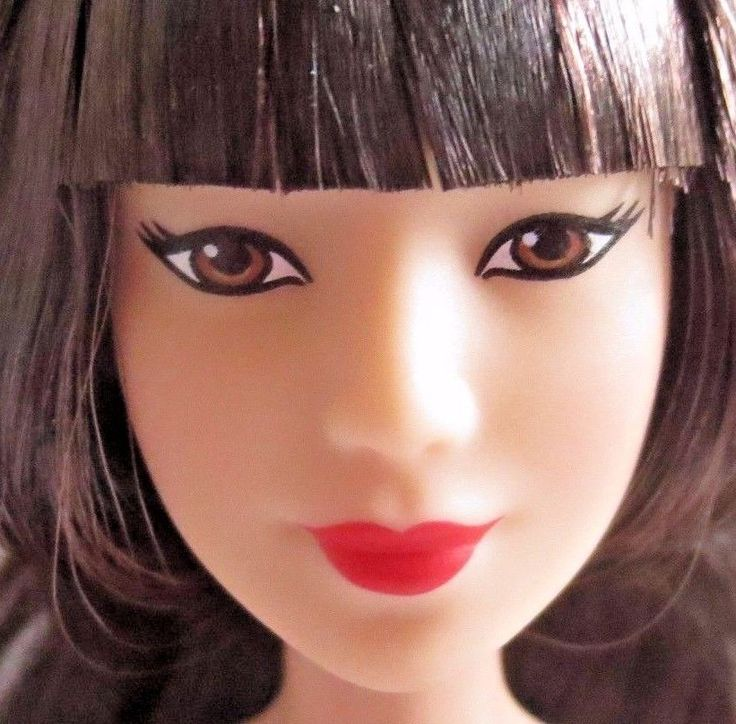 New out of Box Barbie Asian Doll with Short Bangs Hair & Nice Makeup NUDE  #Mattel #Dolls