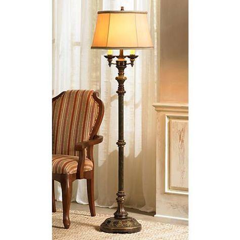 Italian bronze 4 light floor lamp style t3857