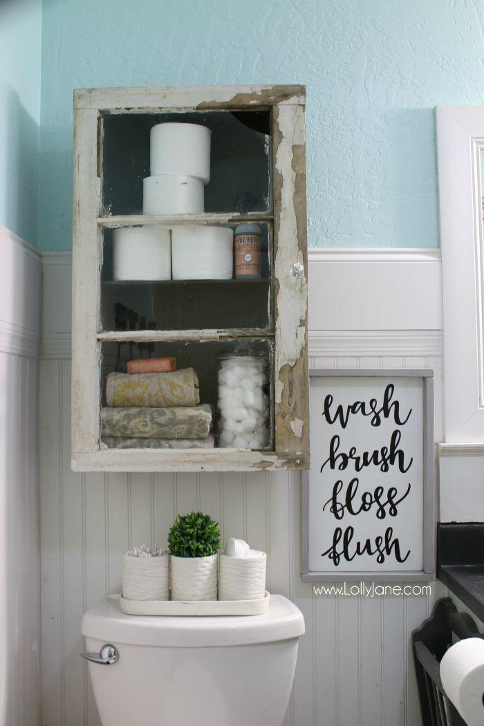 DIY Bathroom Cabinet Vintage Farmhouse Bathroom