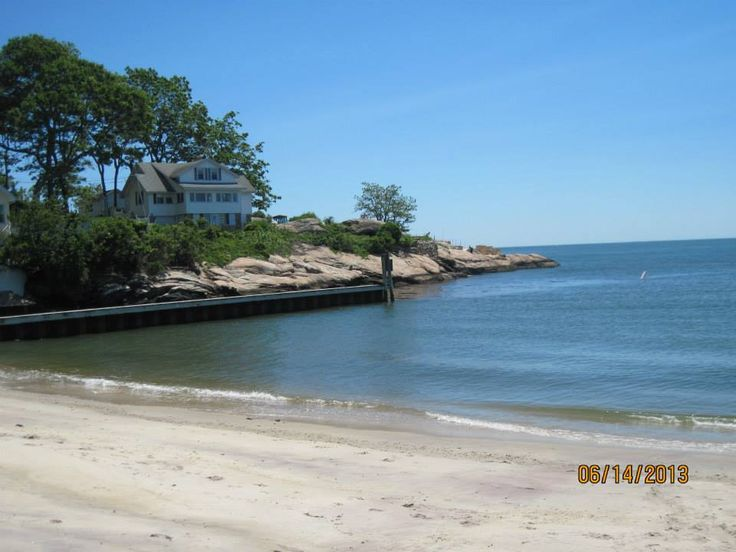 Point O'Woods Beach, South Lyme, Connecticut. But Urma's house is gone :(