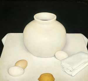 'Still life with Eggs','Stilleven met eieren', 1925 - Jan Wittenberg | Oil on canvas| photo De Wieger, Deurne  |brabantcultureelbrabantliterair
