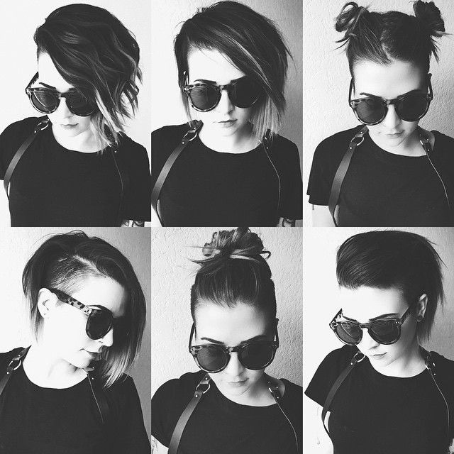 How To Style An Undercut 5 Different Ways just went live on the blog. Hallelujah! >> www.girrlscout.com